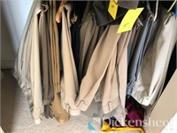 Fantastic variety of coats, other clothing in bedr