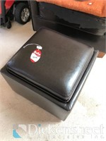 Black leatherette chair (please note some
