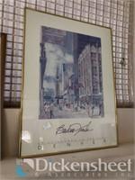 (3) Framed artwork along with decorative