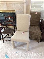 (4) Various highback chairs as photographed,