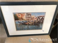 Assortment of decorative framed art and