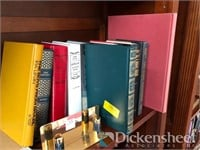Assorted books, decorative items