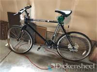 Schwinn mountain bike, bent wheel
