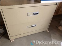 Two drawer metal lateral file cabinet,