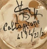 65 - CALTAGICONE COLORFUL CLAY POT