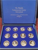 12 STERLING SILVER PROOF MEDALS - FRANKLIN MINT
