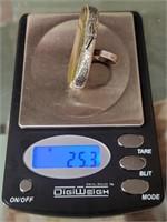 11 - .925 STERLING UNIQUE VINTAGE RING