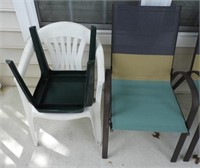 Lot # 4134 -Set of (4) grey yellow and teal