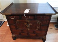 Lot # 4137 -Oriental style Rosewood and Mahogany