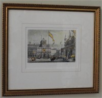 Lot # 4138 -Pair of framed color lithographs