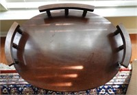 Lot # 4143 -Mahogany contemporary stand with