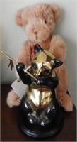 "Lot # 4147 -Brass Panda bear statue 9"" and Gund"