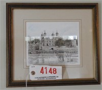 Lot # 4148 -(3) framed colored lithographs