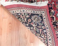 Lot # 4167 -Hand knotted wool pile maroon and