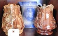 Lot # 4178 -Primitive stoneware salt glaze milk