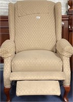 62 - PAIR OF TAN WINGBACKED RECLINER CHAIRS