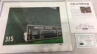 Ted Williams Autographed Lithograph Changing