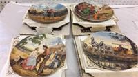 Set of 4 Oklahoma Collector Plates