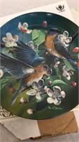 Set of 4 Kevin Daniel Bird Collector Plates