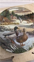 Set of 4 Mallard/Bird Collector Plates