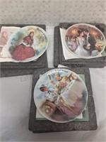 Trio of GiGi Collector Plates