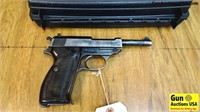 """Walther P 38 9 MM NAZI Pistol. Very Good. 5"""" Barre"""