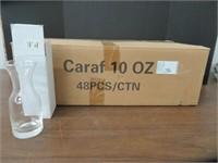 48 PIECES GLASS CARAFES 10 OZ
