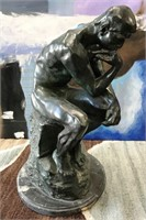 """VINTAGE BRONZE SCULPTURE """"THE THINKER"""" BY A. RODIN"""