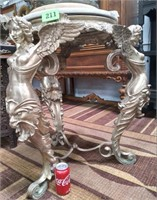 """BEAUTIFUL ANTIQUE GILT BRONZE WITH WINGED NUDE 31"""""""