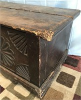 BEAUTIFUL CARVED WOOD CHEST