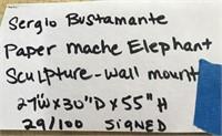 SERGIO BUSTAMANTE PAPER MACHE ELEPHANT SCULPTURE