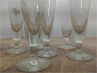 """(9) Glass Flutes 8.75"""" Tall"""