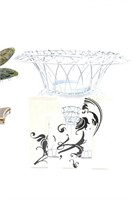 Wire Frame Basket and Assorted Decor-Dragon Fly,