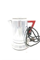 (2) Percolators and (6) Coffee Mugs