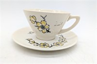 Tea Cup and Plate, and Assorted Rooster Ceramic