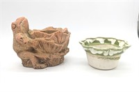 (6) Ceramic and Concrete Planters and Pots
