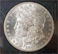 "1882 ""CC"" ""MS62"" - MORGAN SILVER DOLLAR (16)"