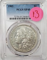 "1902 ""XF45"" - MORGAN SILVER DOLLAR (13)"