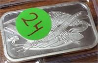 TEN 1oz .999 FINE SILVER BARS -  SILVER TOWNE (24)