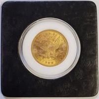 GOLD 1897 $10 DOLLAR COIN (3)