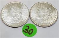 """LOT OF TWO - 1883 """"O"""" - MORGAN SILVER DOLLARS (30)"""