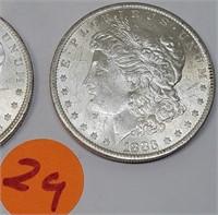 """LOT OF TWO - 1883 """"O"""" - MORGAN SILVER DOLLARS (29)"""