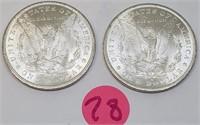 """LOT OF TWO - 1883 """"O"""" - MORGAN SILVER DOLLARS (28)"""
