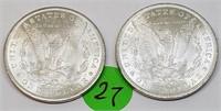 """LOT OF TWO - 1883 """"O"""" - MORGAN SILVER DOLLARS (27)"""