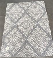 NEW WMC BEAUTIFUL DIAMOND PATTERN 7X5 RUG (14)