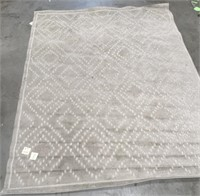 NEW WMC NICE SMALL DIAMOND PATTERENED 10X8 RUG (9)