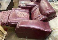 65 - MOVIE WATCHING MAROON RECLINERS WITH ELECTRIC