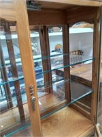 59 - NICE CHINA HUTCH WITH GLASS SHELVES