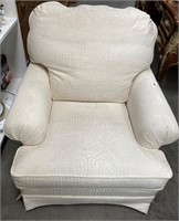 48 - WHITE SOFA & ARM CHAIR SET
