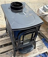 Vermont castings wood burning stove w/ glass door
